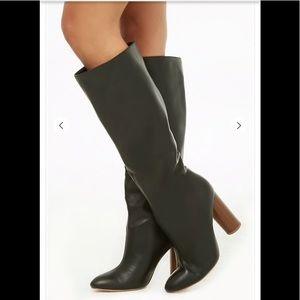 XXI Black Studded Heeled Knee Long 👢 Boots